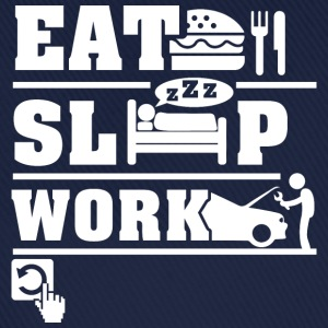 Eat Sleep Work  T-Shirts - Baseball Cap
