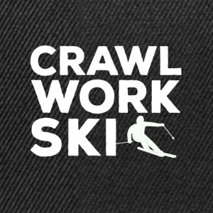 Crawl Work Ski - Snapback Cap