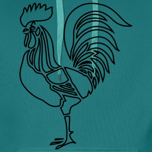 Cock witty stylized T-Shirts - Men's Premium Hoodie