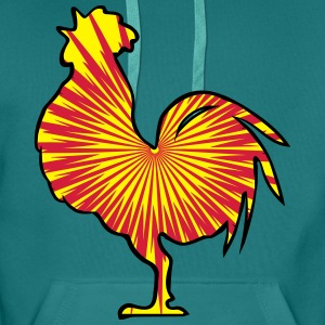 Rooster crow design pattern T-Shirts - Men's Premium Hoodie