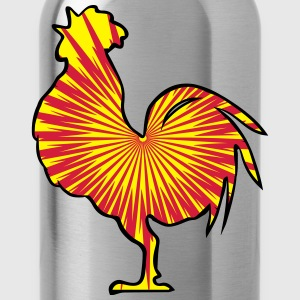 Rooster crow design pattern T-Shirts - Water Bottle