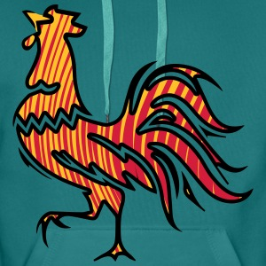Rooster crow design T-Shirts - Men's Premium Hoodie