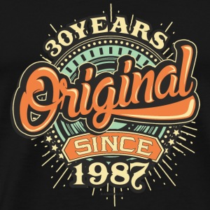 30 Years Original since 1987 - RAHMENLOS Birthday Shirt Design Sonstige - Männer Premium T-Shirt