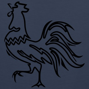 Rooster crow design T-Shirts - Men's Premium Tank Top