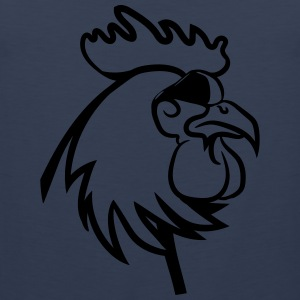 Rooster angry dangerous sunglasses T-Shirts - Men's Premium Tank Top