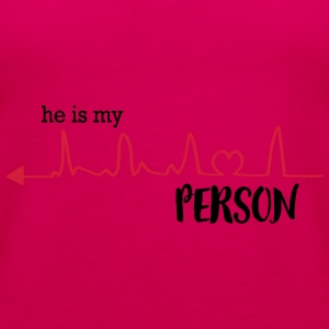 he_is_my_person_left T-Shirts - Women's Premium Tank Top