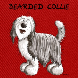 Söt Bearded Collie Babybody - Snapbackkeps