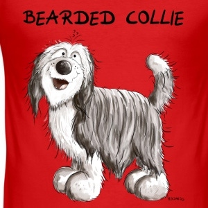 Söt Bearded Collie Babybody - Slim Fit T-shirt herr
