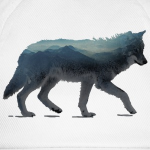 Wolf mountains Aquarell Topper - Baseballcap