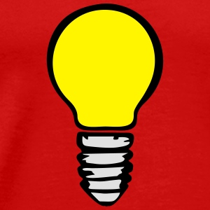 Light bulb (3 colors) Vêtements de sport - T-shirt Premium Homme