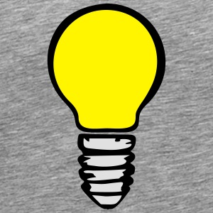 Light bulb (3 colors) Manga larga - Camiseta premium hombre