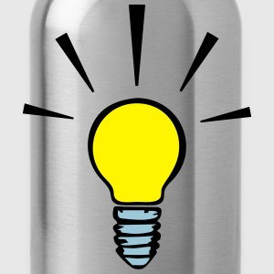 Light bulb - idea  (3 colors) Camisetas - Cantimplora