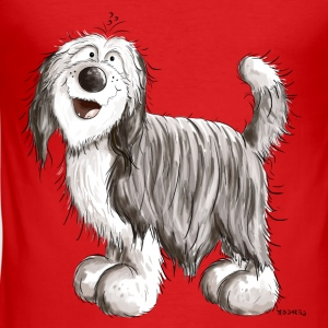 Knuffiger Bearded Collie Baby Langarmshirts - Männer Slim Fit T-Shirt