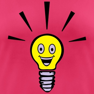 Light bulb with smiley - big idea Tops - Women's Breathable T-Shirt