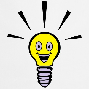 Light bulb with smiley - big idea Sweat-shirts - Tablier de cuisine
