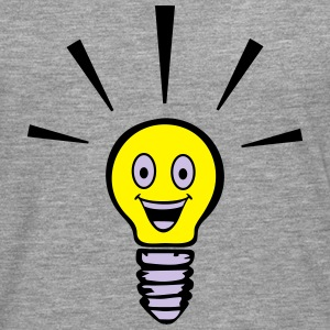 Light bulb with smiley - big idea Sweat-shirts - T-shirt manches longues Premium Homme