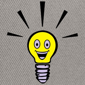 Light bulb with smiley - big idea Sweat-shirts - Casquette snapback