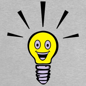 Light bulb with smiley - big idea T-shirts - Baby T-shirt