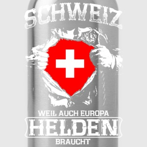 Switzerland - heroes - Europe Shirts - Water Bottle