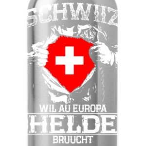 Schwiiz - Europa - Helde Long sleeve shirts - Water Bottle