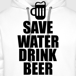 Save water drink beer  - Sweat-shirt à capuche Premium pour hommes