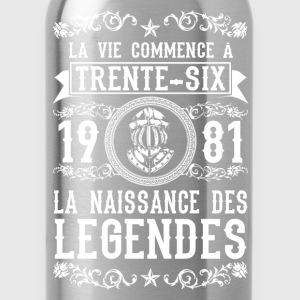 1981 - 36 ans - Légendes - 2017 Tee shirts - Gourde