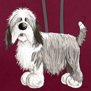 Bearded Collie Débardeurs - Sweat-shirt contraste