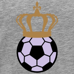 Football, Soccer King (3 colors) Långärmade T-shirts - Premium-T-shirt herr