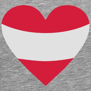 Austria Heart Long sleeve shirts - Men's Premium T-Shirt