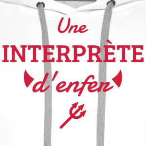 Interpreter Dolmetscher Translation Interprète  Aprons - Men's Premium Hoodie