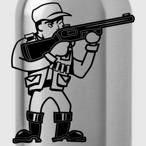 Protect hunter's rifle T-Shirts - Water Bottle