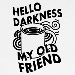 HELLO DARKNESS MY OLD FRIEND (KAFFEE) Langærmede shirts - Baseballkasket