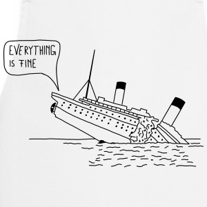 Everything is fine | Männer - Kochschürze