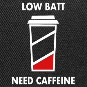 Low battery! I need caffeine! Baby Long Sleeve Shirts - Snapback Cap