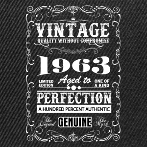 Premium Vintage 1963 Aged To Perfection T-Shirts - Snapback Cap