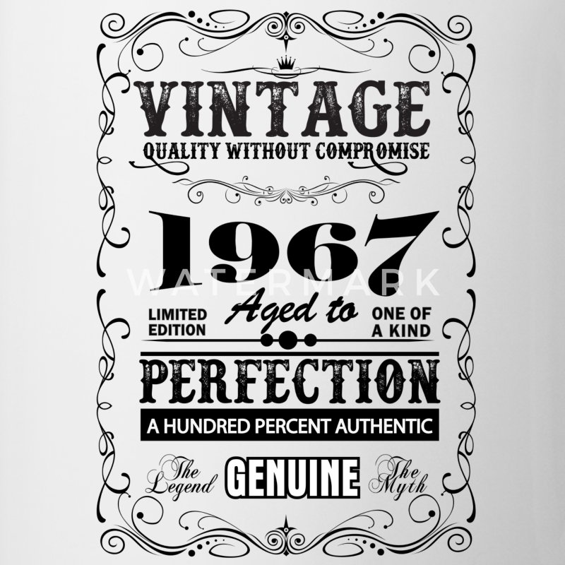Premium Vintage 1967 Aged To Perfection Mugs & Drinkware - Mug