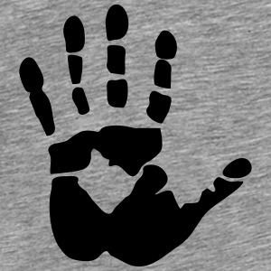 Handprint, high five Top - Maglietta Premium da uomo