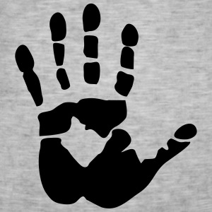 Handprint, high five Sweat-shirts - T-shirt vintage Homme
