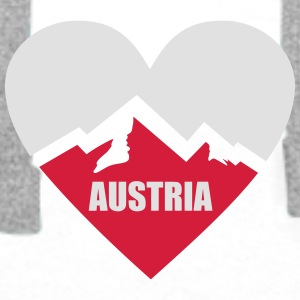 Austria Heart with Alps Mugs & Drinkware - Men's Premium Hoodie