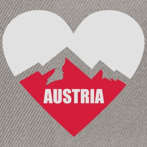 Austria Heart with Alps T-Shirts - Snapback Cap