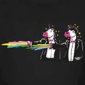 Charbon unicorns & rainbows Tee shirts - T-shirt bio Homme
