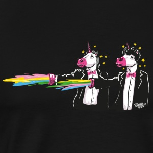 Black unicorns & rainbows Sports wear - Men's Premium T-Shirt