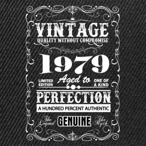 Premium Vintage 1979 Aged To Perfection T-Shirts - Snapback Cap