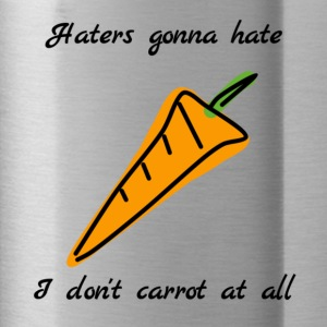 I don't carrot at all, Pun t-shirt - Water Bottle