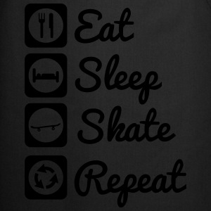 Eat,sleep,skate,repeat, Skateboard, Skateboarding  - Delantal de cocina