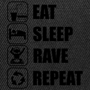 Eat,sleep,rave,repeat , Clubber t-shirt  - Snapback Cap