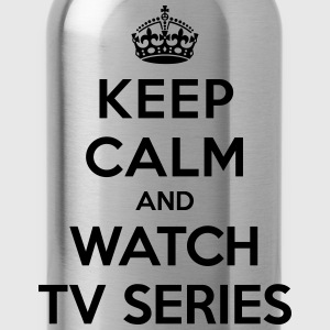 Keep calm and watch tv series T-shirts - Drikkeflaske