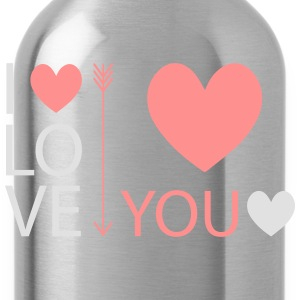 I love you - Trinkflasche