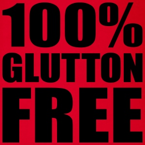 100% Glutton Free - Diet Humour Shirts - Organic Short-sleeved Baby Bodysuit