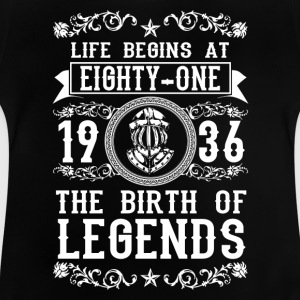 1936 - 81 years - Legends - 2017 Shirts - Baby T-Shirt